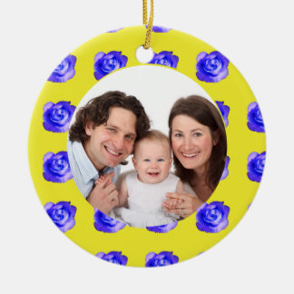 Rose/ Family Photo Christmas Ornaments