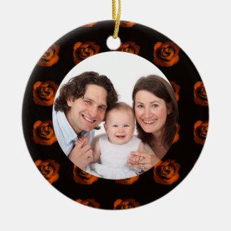 Rose/ Family Photo Ornament
