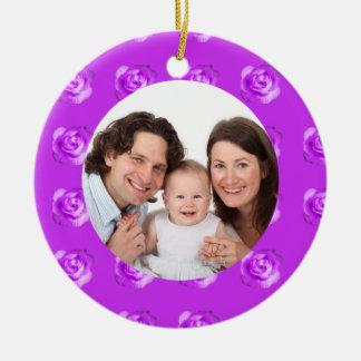Rose/ Family Photo Ornaments