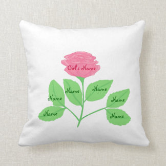 Rose Family Tree & Beautiful Design on Back Throw Pillows