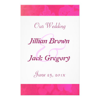 Rose Fantasy Wedding Program