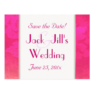 Rose Fantasy WEDDING Save The Date Postcard