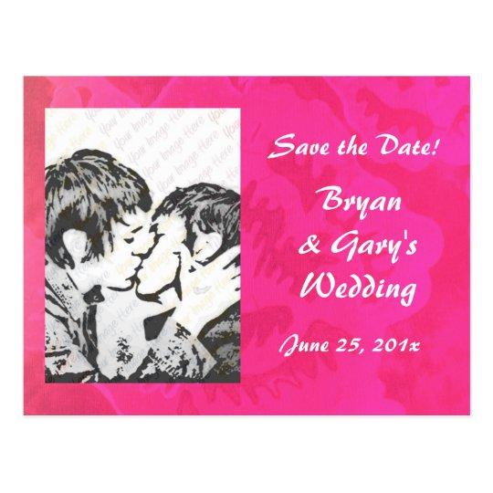 Rose Fantasy WEDDING Save The Date Postcard
