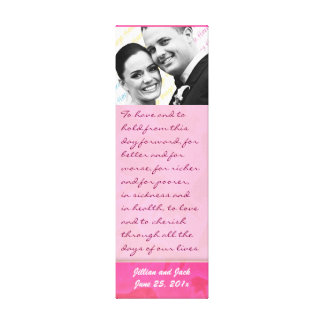 Rose Fantasy WEDDING Vows Keepsake Display Stretched Canvas Print