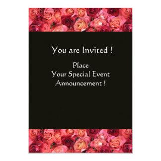 ROSE FIELD MONOGRAM, Pink, Red Black Card