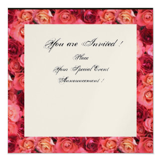 ROSE FIELD MONOGRAM,Pink,Red Black White Champagne Card