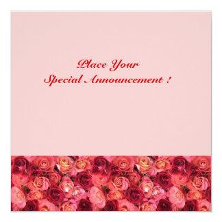 ROSE FIELD MONOGRAM, red pink Card