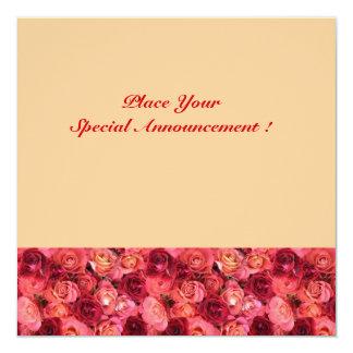ROSE FIELD MONOGRAM, red pink light orange Card