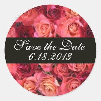 ROSE FIELD ,Save the Date Sticker
