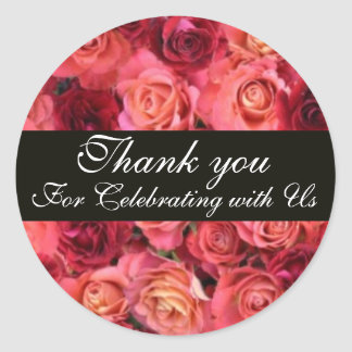 ROSE FIELD ,Thank you Classic Round Sticker