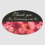 ROSE FIELD ,Thank you Oval Stickers