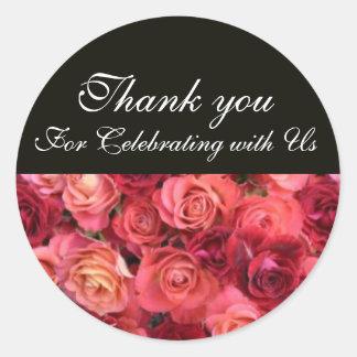 ROSE FIELD ,Thank you Round Sticker