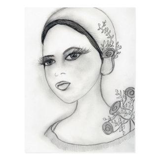 Rose Flapper Postcard