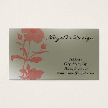 Professional Business Rose Fleur in Mint Green Business Card