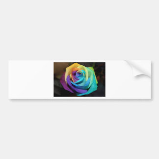 Rose Flora Peace Love Rainbow Digital Glow Destiny Car Bumper Sticker