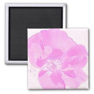 Rose Floral Art Pink Magnet