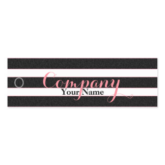 Rose Floral Black & White Stripes - Price Tag Business Card Templates