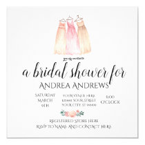 Rose Floral Bridal Shower Invitation