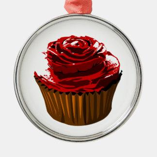 Rose floral design cupcake ornament