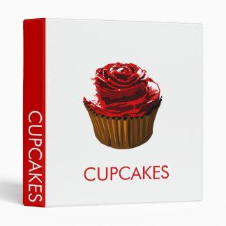 Rose floral design cupcake recipe binder