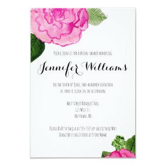 Rose floral modern bridal shower invitations