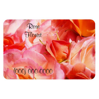 Rose Florist magnets Business Add Phone Number