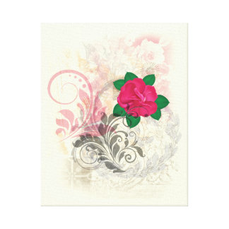 Rose Flourish Canvas Print