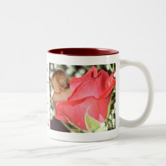 Rose Flower Baby drinkware Two-Tone Coffee Mug