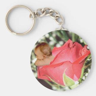Rose Flower Baby Keychain