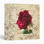 Rose Flower Bamboo Paper Texture Binder