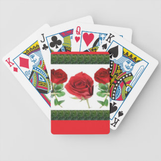 ROSE FLOWER BICYCLE PLAYING CARDS