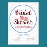Rose Flower Bridal Shower Invitation