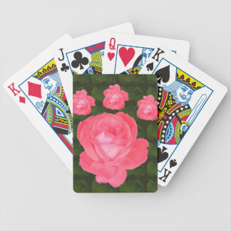Rose Flower Bunch  TEMPLATE DIY add TEXT GREETING Bicycle Playing Cards