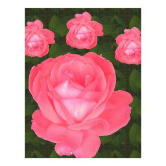 Rose Flower Bunch  TEMPLATE DIY add TEXT GREETING Letterhead