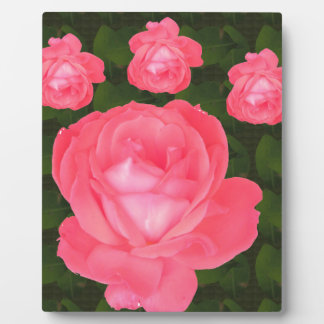 Rose Flower Bunch  TEMPLATE DIY add TEXT GREETING Plaque