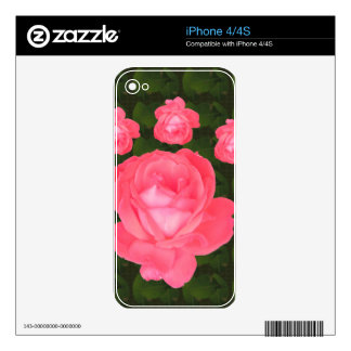 Rose Flower Bunch  TEMPLATE DIY add TEXT GREETING Skins For iPhone 4S