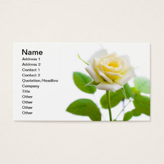 Rose flower business card