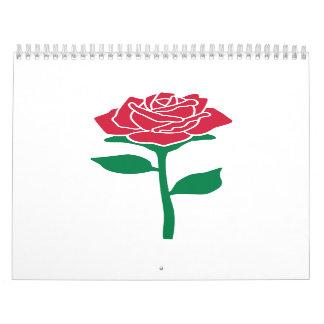 Rose flower wall calendars