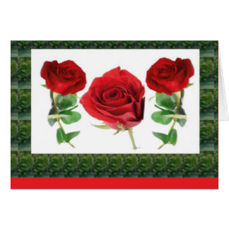 ROSE FLOWER CARD