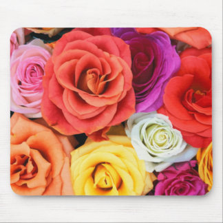 Rose Flower Collage Mouse Pad
