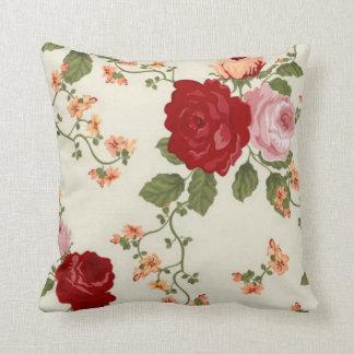 Rose Flower Design Throw Pillow