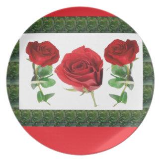ROSE FLOWER DINNER PLATE