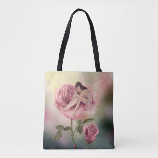 Rose Flower Fairy All Over Print Tote Bag