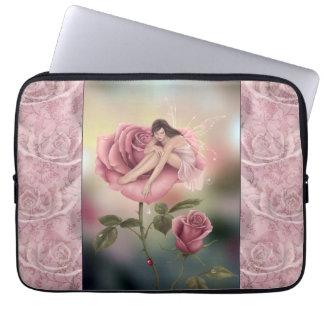 Rose Flower Fairy Art Laptop Sleeve