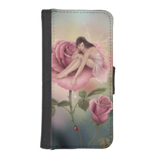 Rose Flower Fairy iPhone Wallet Case Phone Wallet Case