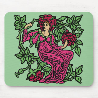 Rose Flower Fairy Mouse Pad