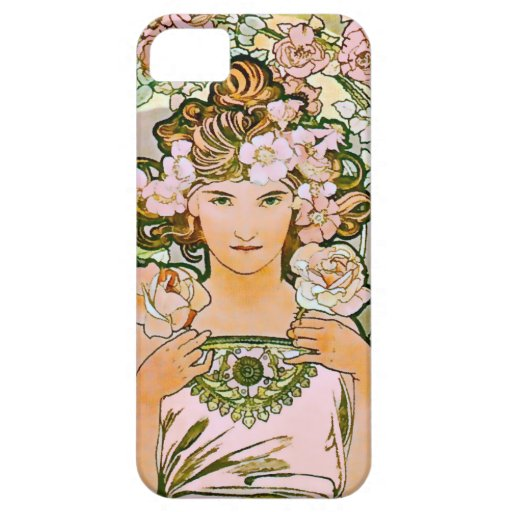 Rose Flower Girl Art Nouveau iPhone 5/5S Cover