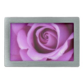 Rose Flower Lavender Purple Pink pretty floral Rectangular Belt Buckle