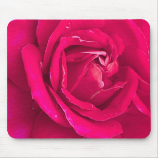 Rose flower mouse pad