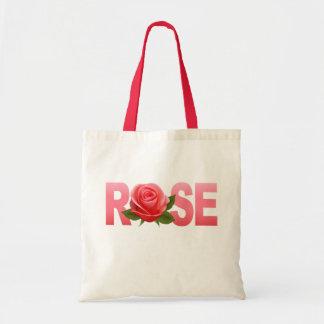 Rose Flower Name Tote Bag